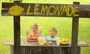 Using stock images - kids selling lemonade