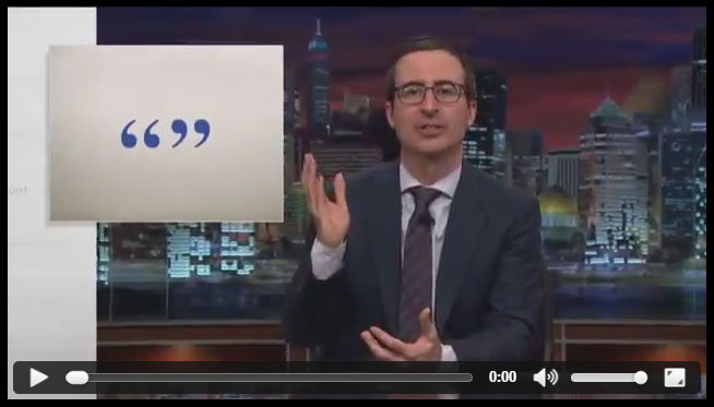 Quotation video clip from last week tonight