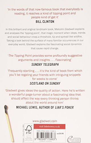 the tipping point how little things The tipping point: how little things can make a big difference  gladwell's  book the tipping point became an exemplification of the very.