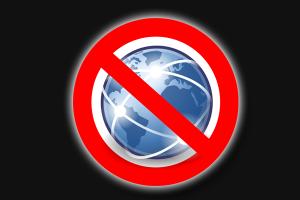 No internet connectivity