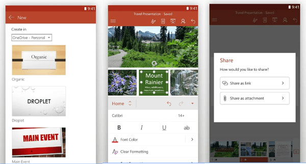 Slideshow powerpoint android apps