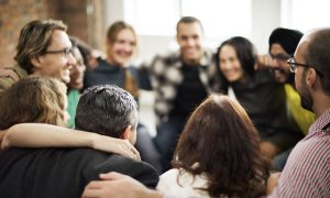 Team huddle to engage your audience