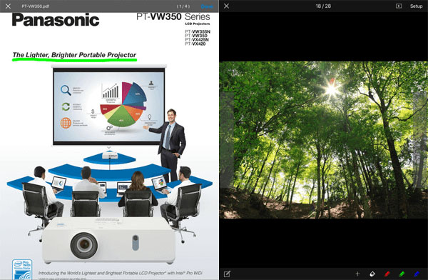 panasonic projector apps for ios