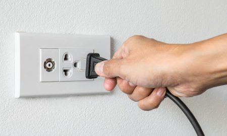 Removing the plug from the socket