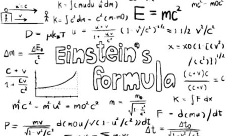 Einstein explaining complex concepts