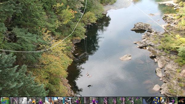 black water below bungee jump