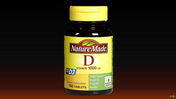 Jar of vitamin d
