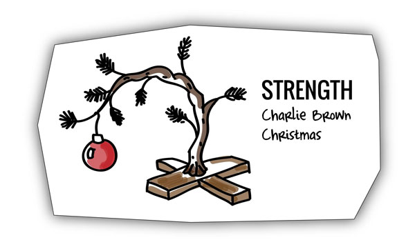 Charlie Brown tree analogy for encouraging achievement