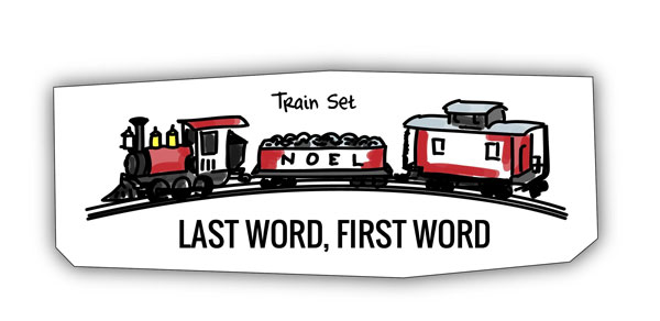 Trainset analogy for linking ideas - last word first word