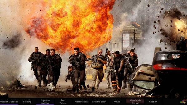 Action movie scene