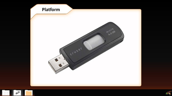 store powerpoint on usb stick to make it portable