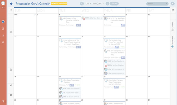 CoSchedule Drag and drop calendar