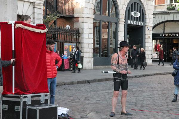 Street performer Tony