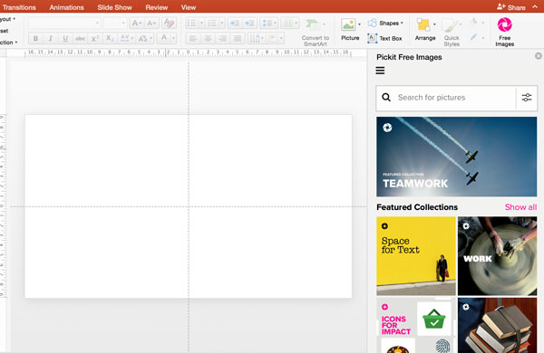 Pickit free images powerpoint add-in