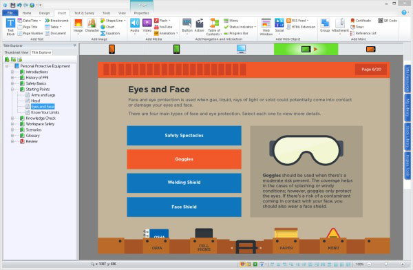 Lectora for powerpoint videos