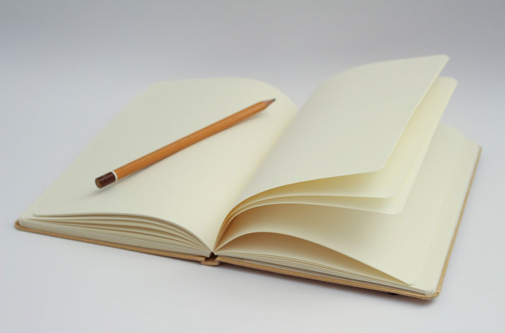 Starting at the beginning on a blank page