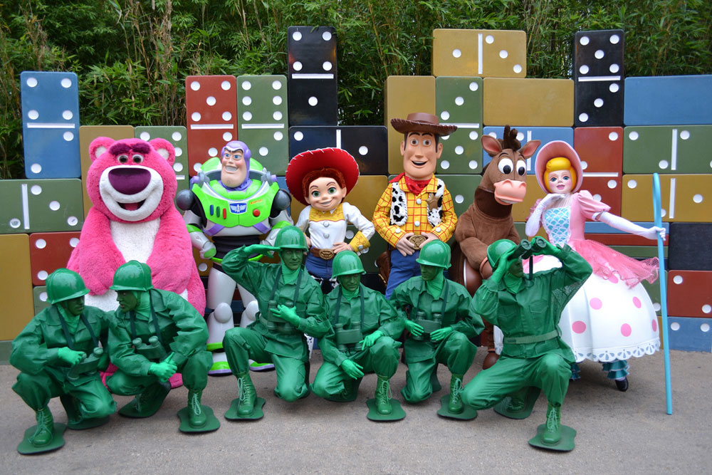 Pixar animation Toy Story character line-up