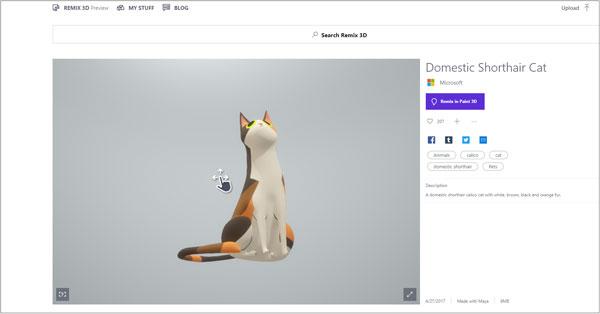powerpoint 3d cat