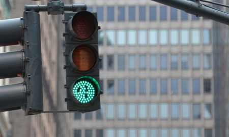 green traffic light - start your presentation