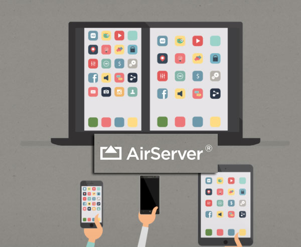 Airserver for screen mirroring