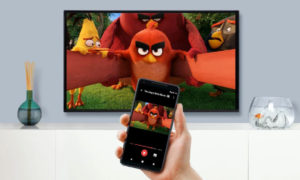 Angry Birds demonstrating screen mirroring and presentation sharing