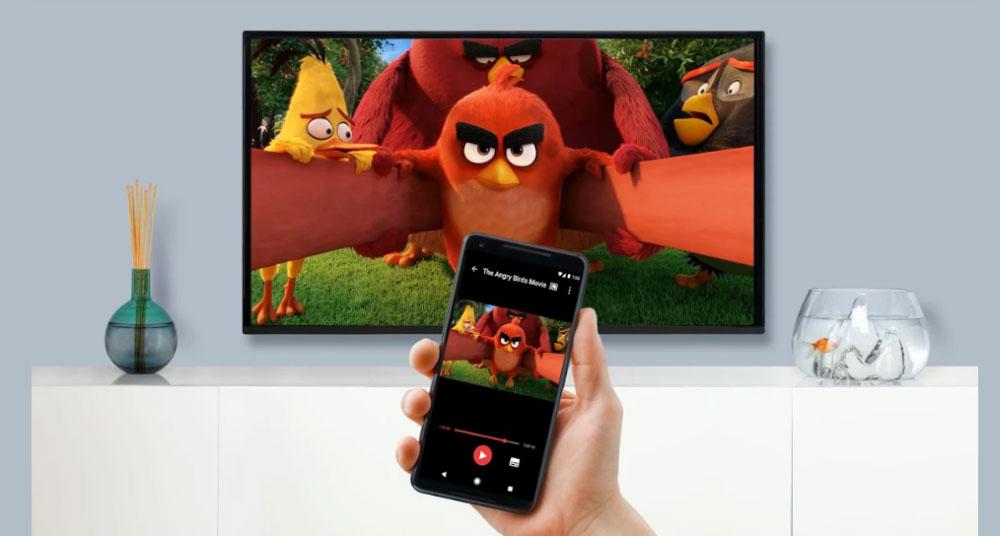 Angry Birds demonstrating screen mirroring and presentation sharing