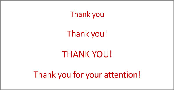 example of final thank you slide in presentation