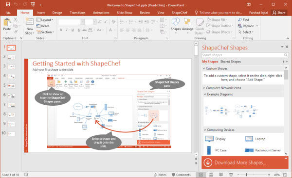 Getting started with ShapeChef - tutorial