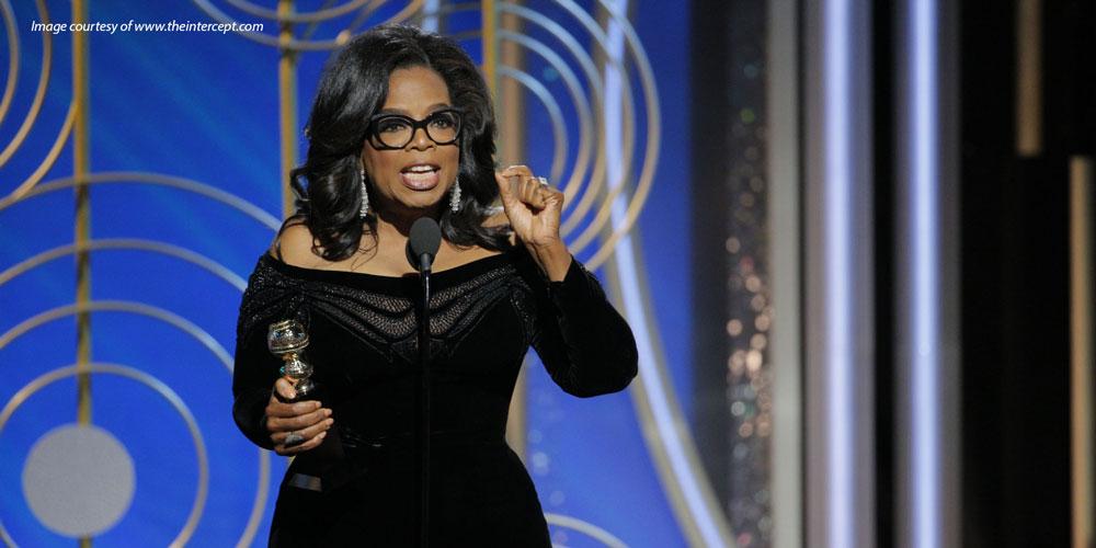 Oprah Winfrey acceptance speech 2018 Golden Globes