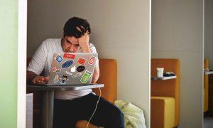 speechwriter suffering from writers block