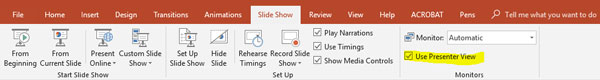 powerpoint presenter view
