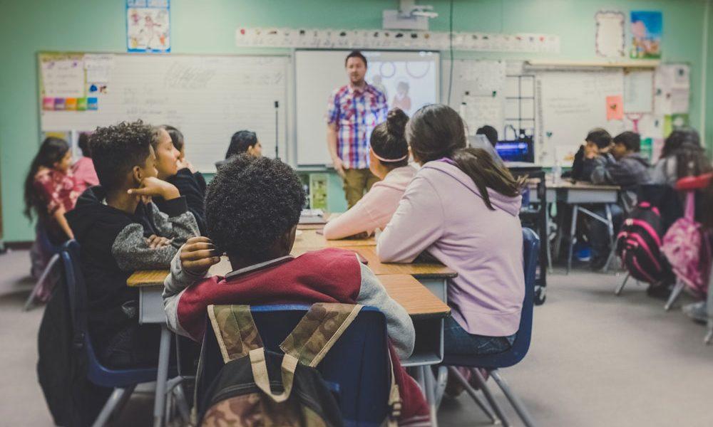 teacher speaking to class