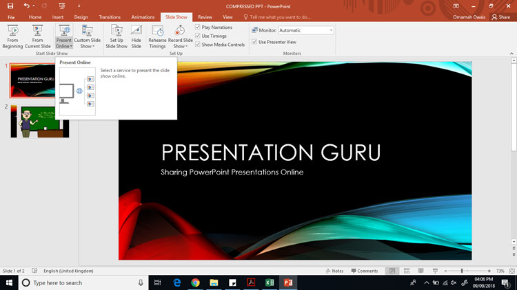 using the office presentation service