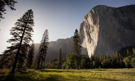 El Capitan rock face in Yosemite Park