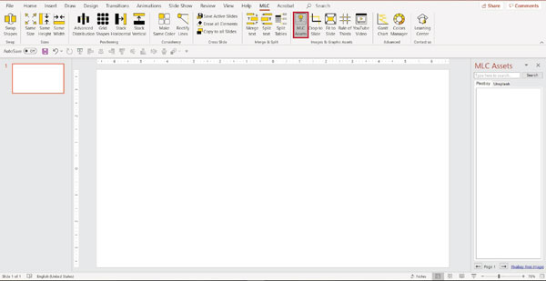 MLC powerpoint addin assets function screenshot
