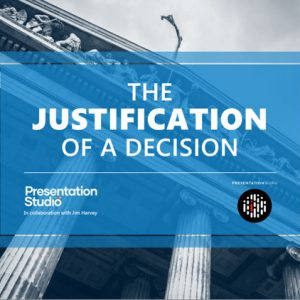 PowerPoint template for the Justification of a Decision presentation