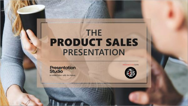 PowerPoint template for a product sales presentation