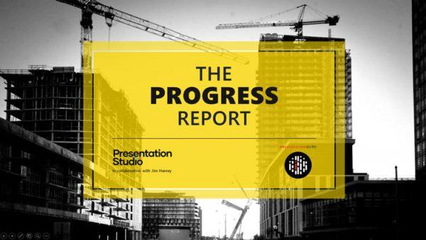 PowerPoint template for progress report presentation