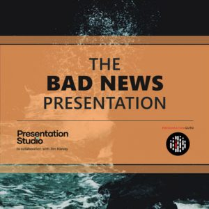 PowerPoint template for Bad News Presentation