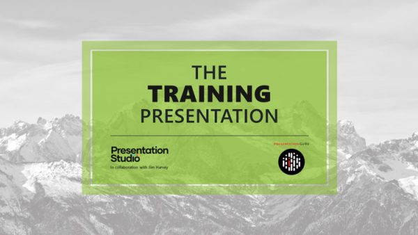 PowerPoint template for a training presentation