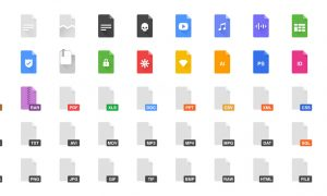 icons of all the different file types