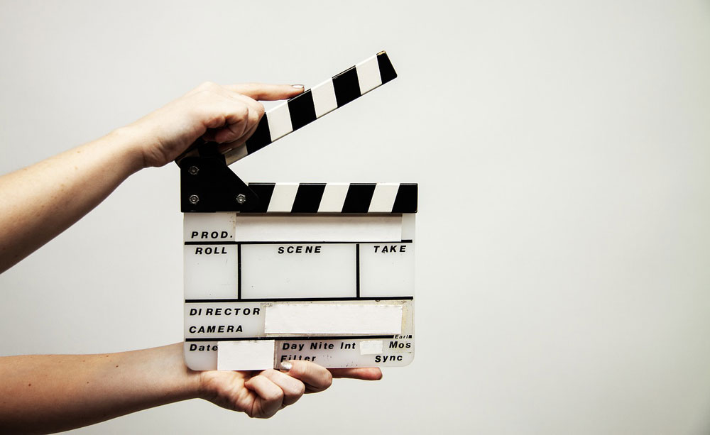 Film production clapperboard