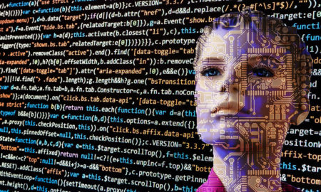 AI coding behind a computer generated humanoid