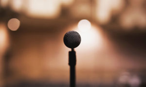 sinle microphone for public speaker