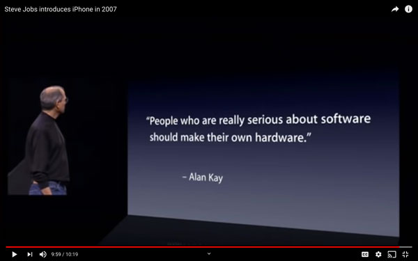 example of text only slide at Steve jobs iphone launch