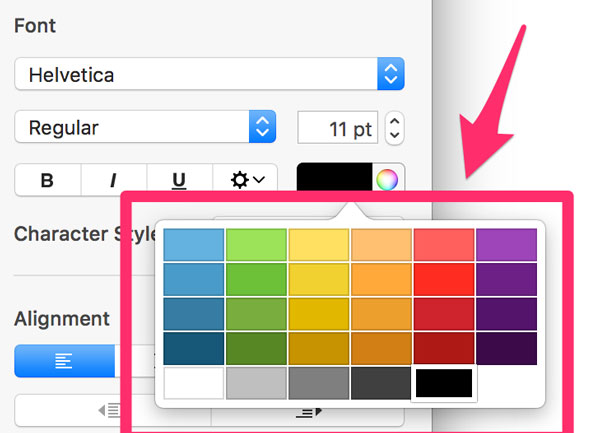 experimenting with colours in keynote