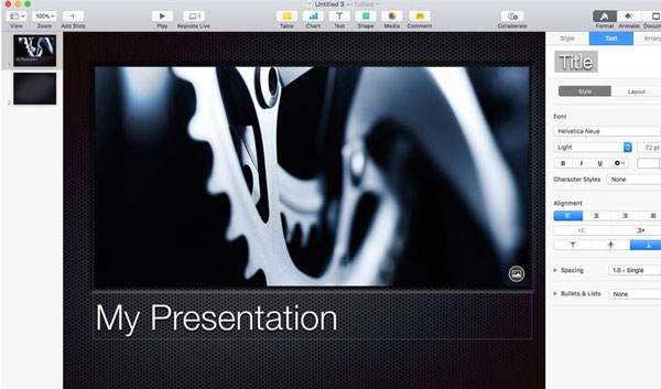 Use animated effects in keynote presentations